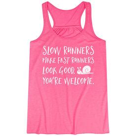 Flowy Racerback Tank Top - Slow Runners
