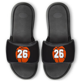 Basketball Repwell™ Slide Sandals - Basketball With Number