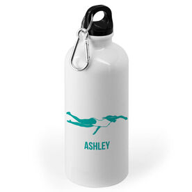 Swimming 20 oz. Stainless Steel Water Bottle - Swimmer Female Silhouette