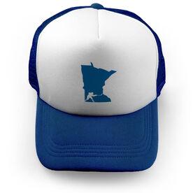 Hockey Trucker Hat State MN