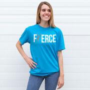 Tennis Tshirt Short Sleeve Fierce Tennis Girl with Silver Glitter