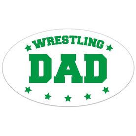 Wrestling Oval Car Magnet Wrestling Dad