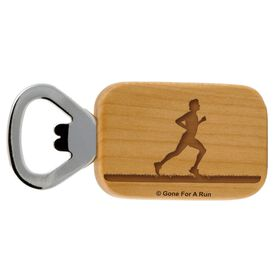 Male Runner Maple Bottle Opener