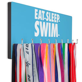 Swimming Hooked on Medals Hanger - Eat Sleep Swim