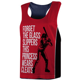 Softball Racerback Pinnie - Forget The Glass Slippers This Princess Wears Cleats