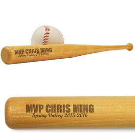 MVP Mini Engraved Baseball Bat