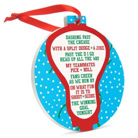 Guys Lacrosse Round Ceramic Ornament - Jingle All the Way