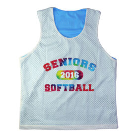 Girls Softball Racerback Pinnie Personalized Seniors Softball Rainbow