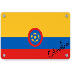 Soccer Metal Wall Art Panel - Colombia