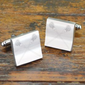 Crossed Lacrosse Sticks Cufflinks
