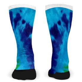 Customized Printed Mid Calf Team Socks Tie Dye