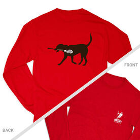 Guys Lacrosse Tshirt Long Sleeve - Max The Lax Dog (Logo Collection)