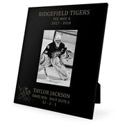 Hockey Engraved Picture Frame Goalie Stats