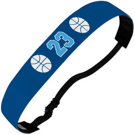 Basketball Juliband No-Slip Headband - Ball Icons with Number