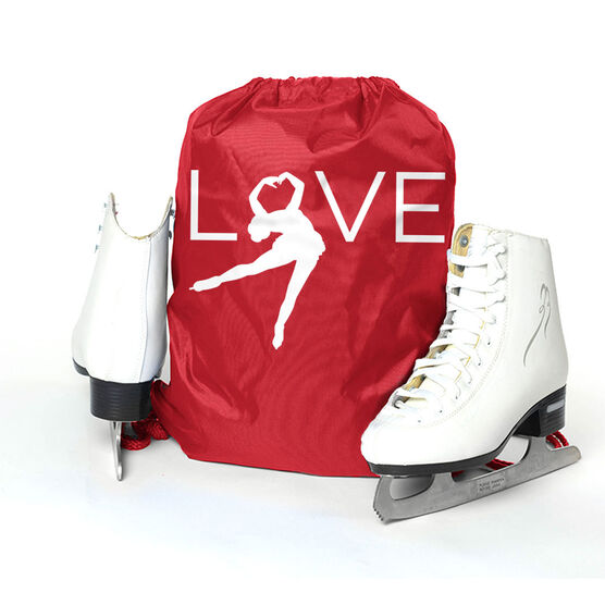 Figure Skating Sport Pack Cinch Sack - Love