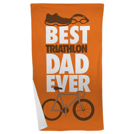 Triathlon Beach Towel Best Dad Ever
