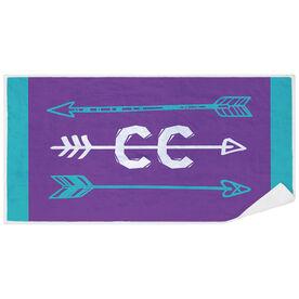 Cross Country Premium Beach Towel - Arrows