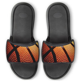 Basketball Repwell® Slide Sandals - Basketball Texture