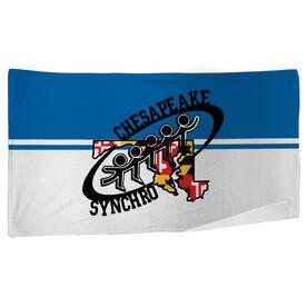 Beach Towel - Chesapeake Synchronized Skating Logo