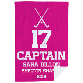 Field Hockey Premium Blanket - Personalized Captain