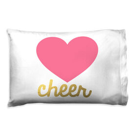 Cheerleading Pillowcase - Heart With Gold