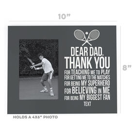 Tennis Photo Frame - Dear Dad