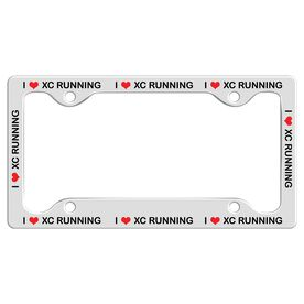 I Heart Xc Running License Plate Holder
