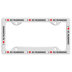 I Heart Xc Running License Plate Holder