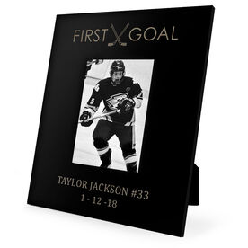 Hockey Engraved Picture Frame First Goal