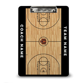 ChalkTalk Basketball Custom Wood Court Coaches Dry Erase Clipboard