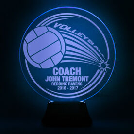 Volleyball Acrylic LED Lamp Spike With Coach and 3 Lines
