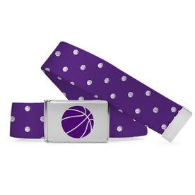 Basketball Lifestyle Belt Basketball Polka Dots