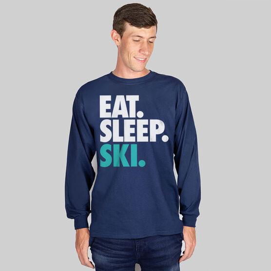 Skiing & Snowboarding T-Shirt Long Sleeve Eat. Sleep. Ski.