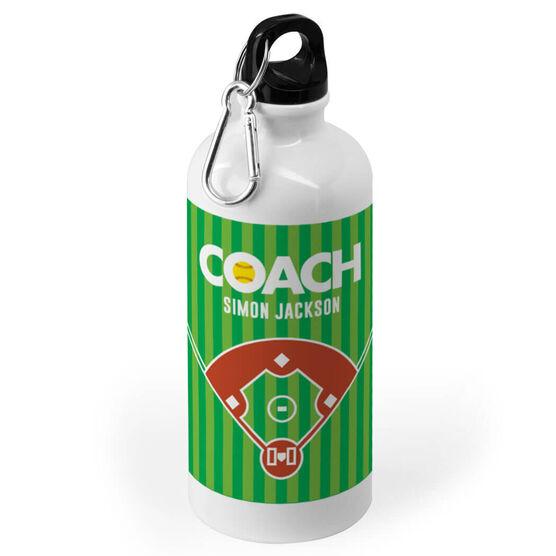 Softball 20 oz. Stainless Steel Water Bottle - Coach Field