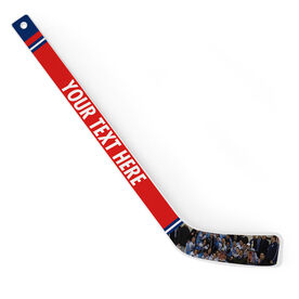 Personalized Knee Hockey Player Stick Your Text with Photo