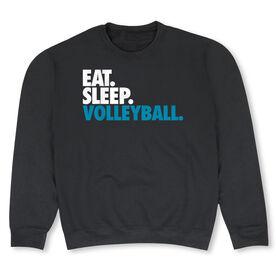 Volleyball Crew Neck Sweatshirt - Eat Sleep Volleyball (Bold)