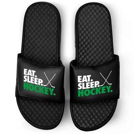 Hockey Black Slide Sandals - Eat Sleep Hockey