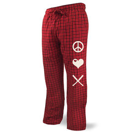 Baseball Lounge Pants Peace Love Baseball