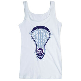 Girls Lacrosse Women's Athletic Tank Top Lax Is Life With Number