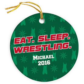 Wrestling Porcelain Ornament Eat Sleep Wrestling