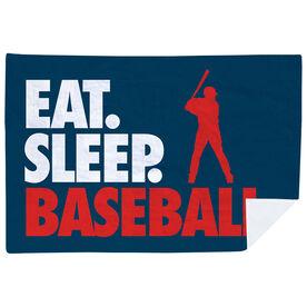 Baseball Premium Blanket - Eat. Sleep. Baseball. Horizontal
