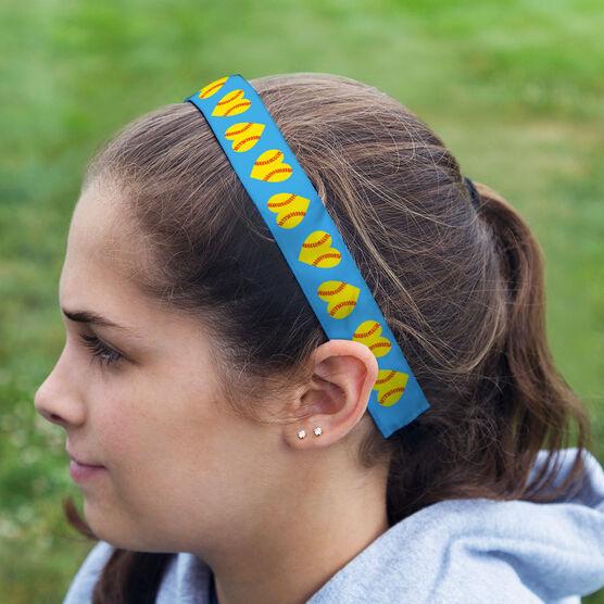 Softball Juliband No-Slip Headband - Softball Hearts