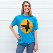 Lacrosse Tshirt Short Sleeve Witch Riding Lacrosse Stick