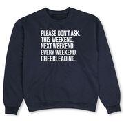 Cheerleading Crew Neck Sweatshirt - All Weekend Cheerleading