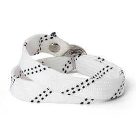 Hockey Lace Bracelet White Adjustable Wrister Bracelet