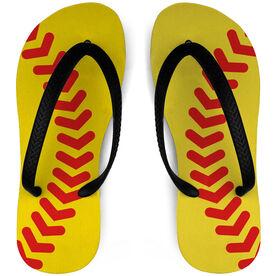 Softball Flip Flops Stitches
