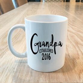 Grandpa Established Personalized Coffee Mug