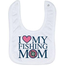 Fly Fishing Baby Bib - I Love My Fly Fishing Mom