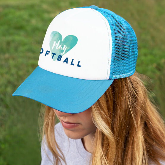 Softball Trucker Hat Play Softball