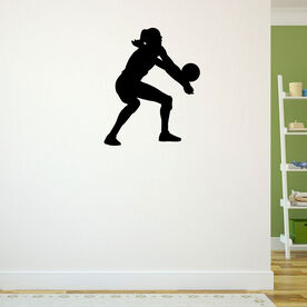 Volleyball Player Bump Pass Removable ChalkTalkGraphix Wall Decal